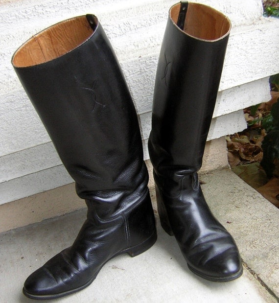 Vintage British Riding Boots Tall Equestrian EnglishTop