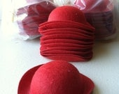 hats doll felted small red derby lot 78