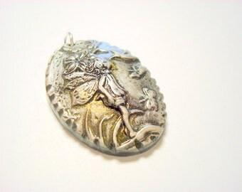 Little Bird Fairy Handmade Polymer Clay Pendant
