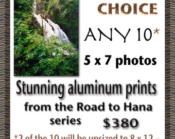 Road to Hana - Set of 10 Aluminum Prints - Maui - Hawaii - Home Decor - Tropical - Hawaii Photo - Gift Idea