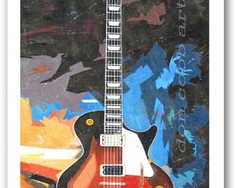 "Les Paul Guitar Art ""Les Paul"" 13 x 19"" Print Signed and Numbered"