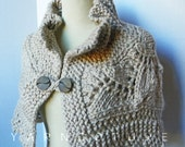 Custom Listing For Megan - The Lace Capelet / In Oatmeal / Fall Winter Fashion / Luxury Cape - Sweater