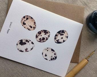 Quail Eggs Note Cards