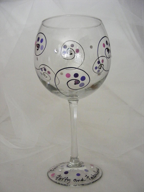 21 30 40 50 60 Fabulous Birthday Girl Large Wine Glass