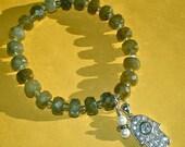 LABRADORITE CRYSTAL HAMSA Stretch Bracelet