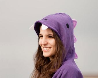 S size - Last Units - Purple Dinosaur Hoodie