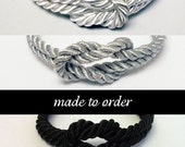 Made to order forever knot nautical rope bracelets // choose color / charm / size