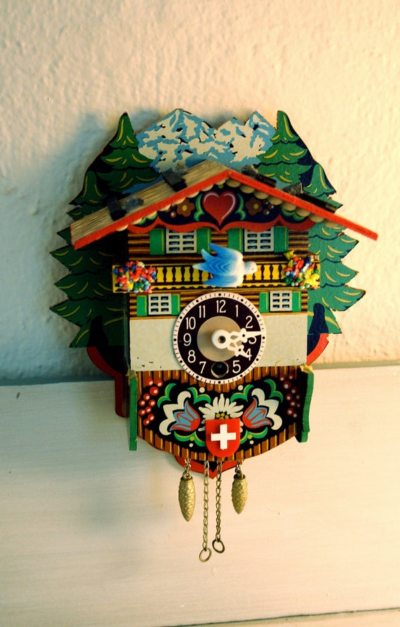 Cuckoo Clocks Switzerland Vintage Swiss Cuckoo Clock