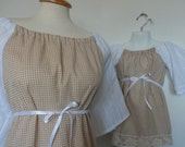 Mommy and Me Clothing. Mommy and Me Matching. Peasant Top and Peasant Dress. Upcycled Clothing.