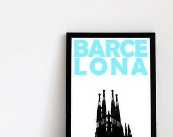 Barcelona Print (8x10) Spain Art Travel Print