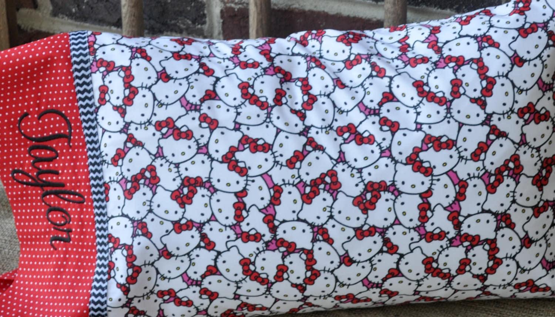 Travel Size Pillow Case Includes Monogram Pillowcase Hello
