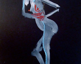 One Minute Pose CXIII.2  original painting by Gretchen Kelly
