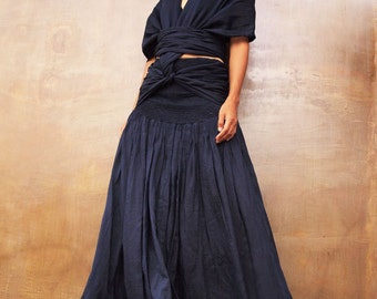 Endlessly...wrap maxi dress mix silk...1 dress 10 ways to wear (S-L)