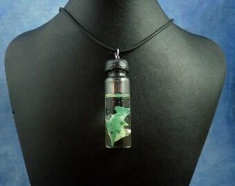 Ichthyosaur Specimen Jar Necklace, Handmade Prehistoric Jewelry