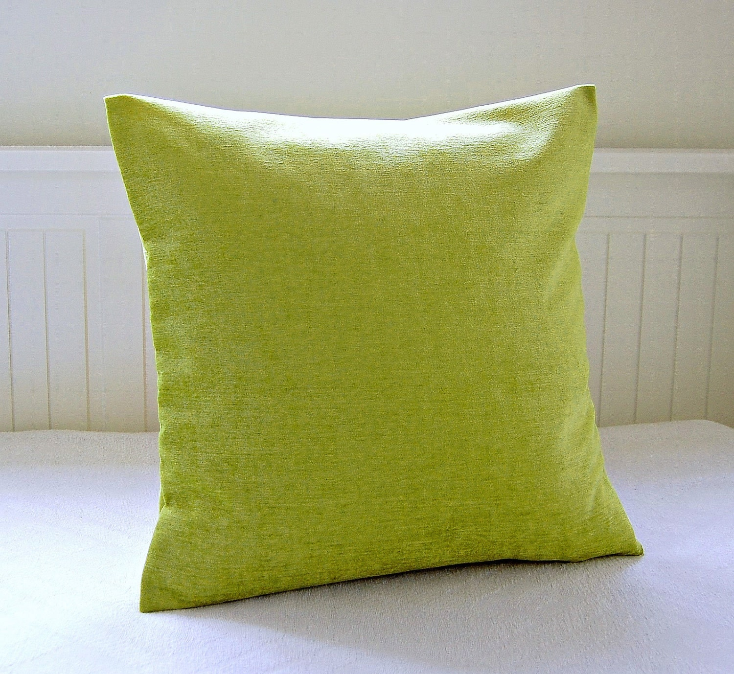 Our set of textured lime green cushions will give your outdoor seating a punch of citrus-y color. The percent polyester is bot h weather-resistant and fade-resistant, so these by inch cushions are ready for either your covered patio or your poolside deck. High-quality polyfill stuffing ensures they are comfortable for hours of relaxing enjoyment.