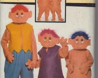 Butterick 6385 boys girls norfin troll costume pattern childs