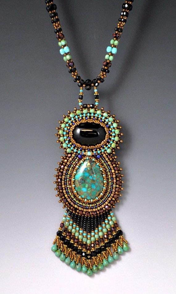 Items similar to bead embroidered beadwork beadwoven