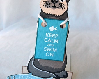 Keep Calm Otter - Desk Decor Paper Doll