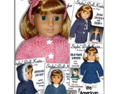 Knitting Patterns, Fit American girl Doll, 18 inch. Maplelea, Gotz, Instant Download