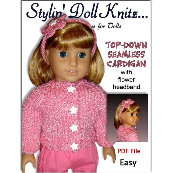 18 inch doll knitting pattern. Fits American by ...