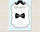 Little Man- Custom Baby Shower Invitation, Bridal Shower Invitation