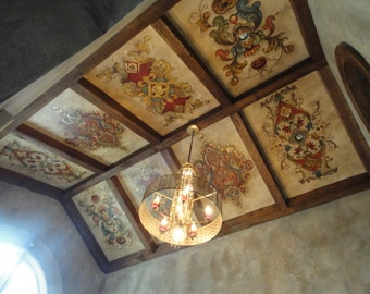 Estimate for ceiling murals, Hand painted Murals, custom Mural on ceiling, Masterbath mural, custom mural on canvas