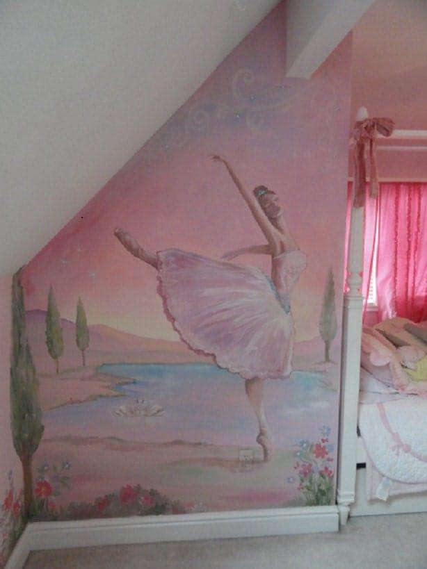 wall murals ballerina dancer swan lake painting by ballet ballerina dance dreaming feet vinyl wall sticker