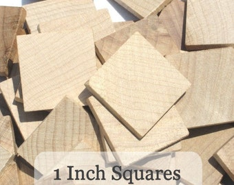 Unfinished Wooden Squares 1 inch, Pack of 100