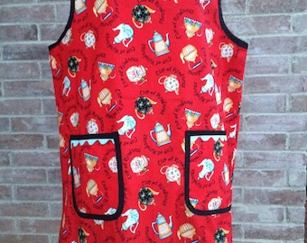 Smock Apron in Mary Engelbreit Cup Of Kindness