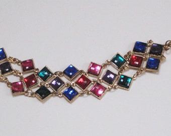 Glittery fake gemstone bracelet from the 80s