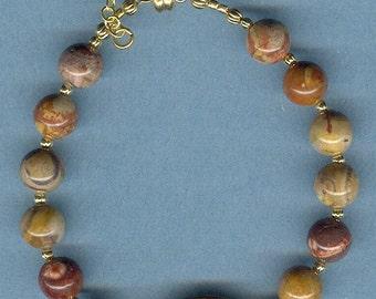 Birds Eye Rhyolite Gemstone Bracelet