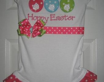 Easter Bunny Easter bodysuit with ruffles and bow