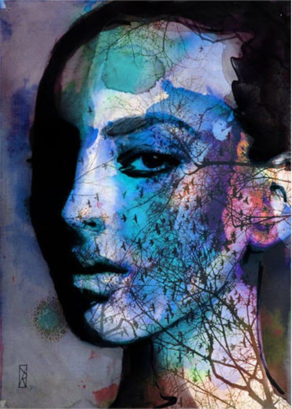 Digital Print - Art Print - Art Digital - Fashion Woman Blue - Limited Edition 28