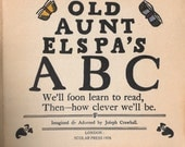 OLD AUNT ELSPA'S A B C-Scolar Press 1978-Joseph Crawhall Illustrator,Graphic Art