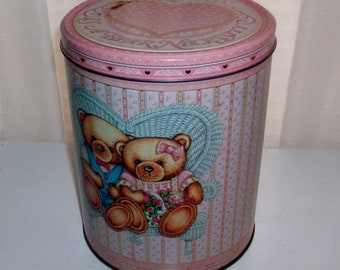 1980s Cute Bear Love Is a Bear Necessity Tin