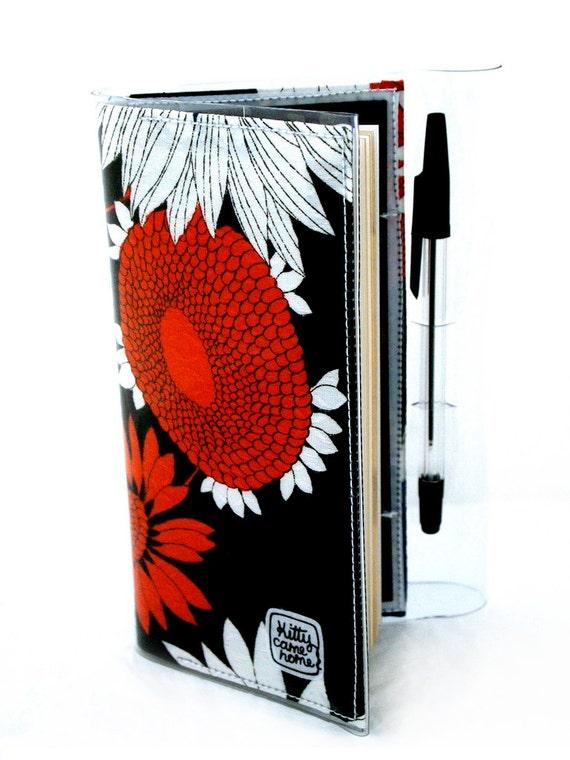 2013 Diary - orange sunflower vintage fabric