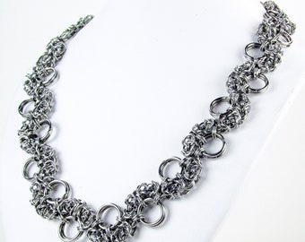 Dragon Byzantine - Stainless Steel - Chainmaille Necklace