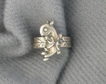 Dragon fine silver ear cuff PMC DTPD