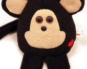 Monkey - Whee One - Stuffed Animal Doll - Black and Tan Stuffed Toy - Plushie