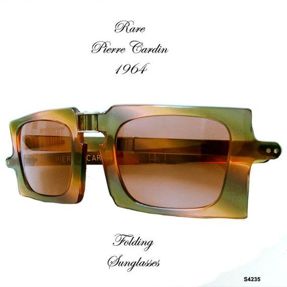 Vintage Pierre Cardin Folding Sunglasses 1964 Rare