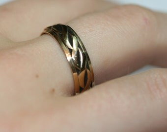 Vintage 14k Yellow Gold Band Ring - Wedding