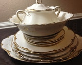 Chantilly Gold - Fine China - Lot of 10