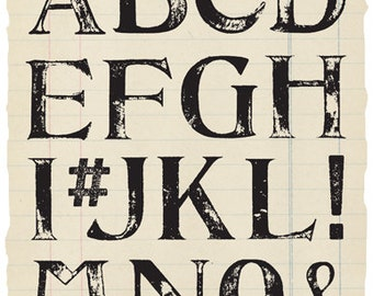 Giant Shabby Alphabet Rubber Stamp Collection