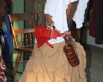 Tan Saloon Girl Skirt