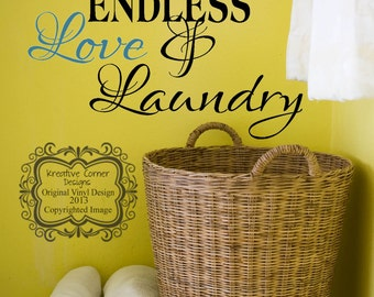 Large This Home Has Endless Love & Laundry Vinyl Decal
