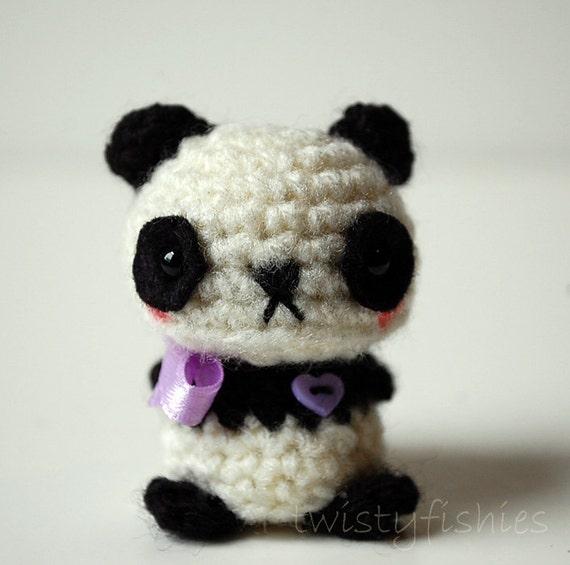 Baby Panda Kawaii Mini Amigurumi by twistyfishies on Etsy