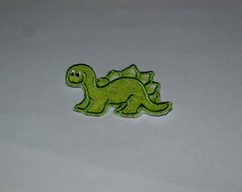 Embroidered Iron On Applique- Dinosaur
