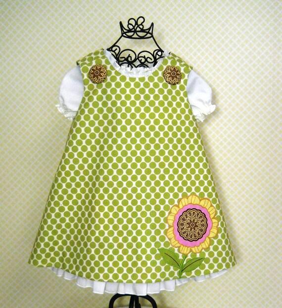 Reversible Aline Jumper Dress Pattern PDF Sewing Pattern 6M-6CH Handmade Children Pattern Instant Download