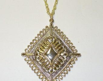 Vintage Diamond Shaped Disco Medallion DEADSTOCK
