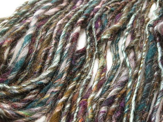 Hand Spun Art Yarn - Tapestry